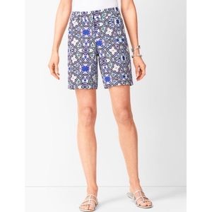 Talbots Ivory Multi Patterned Shorts